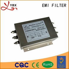Three-phase three-wire ac power supply filter