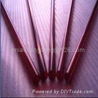 Dark Red quartz tube 3