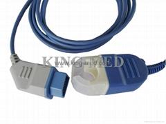 Nihon Kohden Spo2 Adapter Cable ,2.4m
