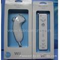 White Skin nunchuck and Remote Controle (hand) for Nintendo wii Console Accessor