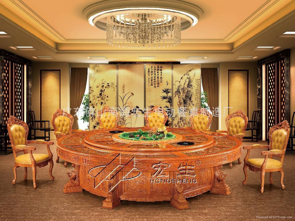 百鸟朝凤电动餐桌 2