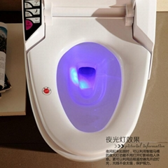 Ceramic Floor mounted S-Trap round shape smart toilet Intelligent Toilet DA6101