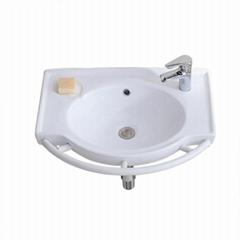 ceramic wash basin and bathtub for old people and disable people