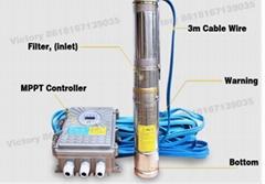 5m head solar pump free energy solar pump brushless 24v dc  irrigation pump