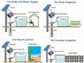 pump water solar deep well pump submersible solar pump 600w for irrigation