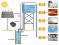 high power solar water pumps 5m3/h 40m dc solar submersible pump pond solar powe