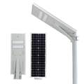 All in one solar street lamp with panel and Bridgelux LED 100-120lm/w