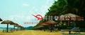 沙灘茅草屋