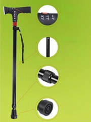 Adjustable Telescopic Smart MP3 Music Walking Stick with LED Torch Old Man Cane