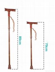 2016 New Product Elderly Folding Stool Walking Stick with LED Light