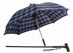 2016 New Design Multifunctional Walking Stick Umbrella with LED Light and Alarm