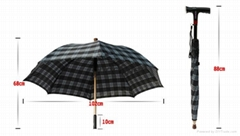 High Quality Separable Walking Stick Umbrella with FM radio and LED function