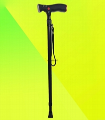 Smart Outdoor Flexiable Lightweight Nordic Walking Stick with LED and Alarm