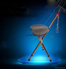 New Fashion Foldable LED and FM Radio Walking Stick Seat