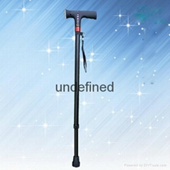 Height Adjustable MP3 Walking Pole Stick with Lamp Walking Crutch