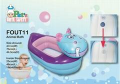發聲嬰兒充氣浴缸(河馬)