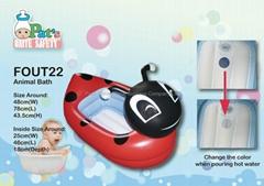 Squeaky Portable Bath Tub (Ladybird Shape)