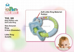 Baby Rattles with Soft Rings