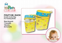 Double Cooler Bag For Feeding Bottle(Duck)