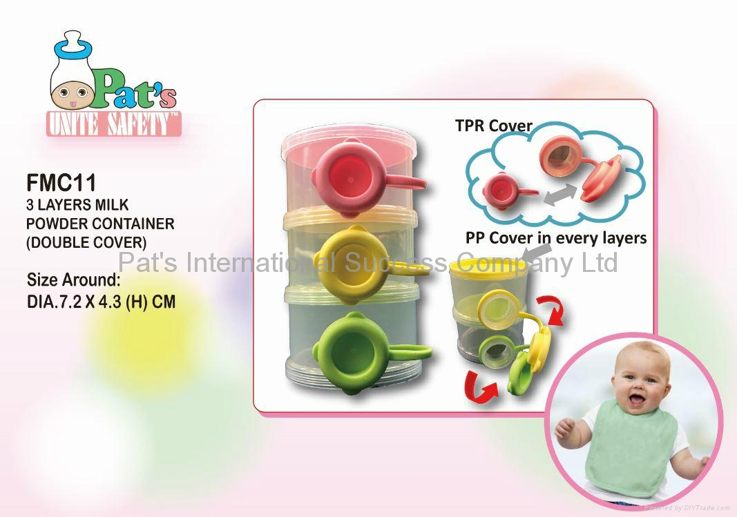 3 Layers Milk Powder Container (Double Cover)