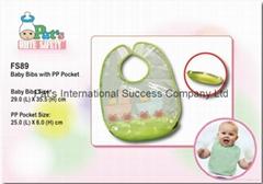 Baby bib with PP pocket