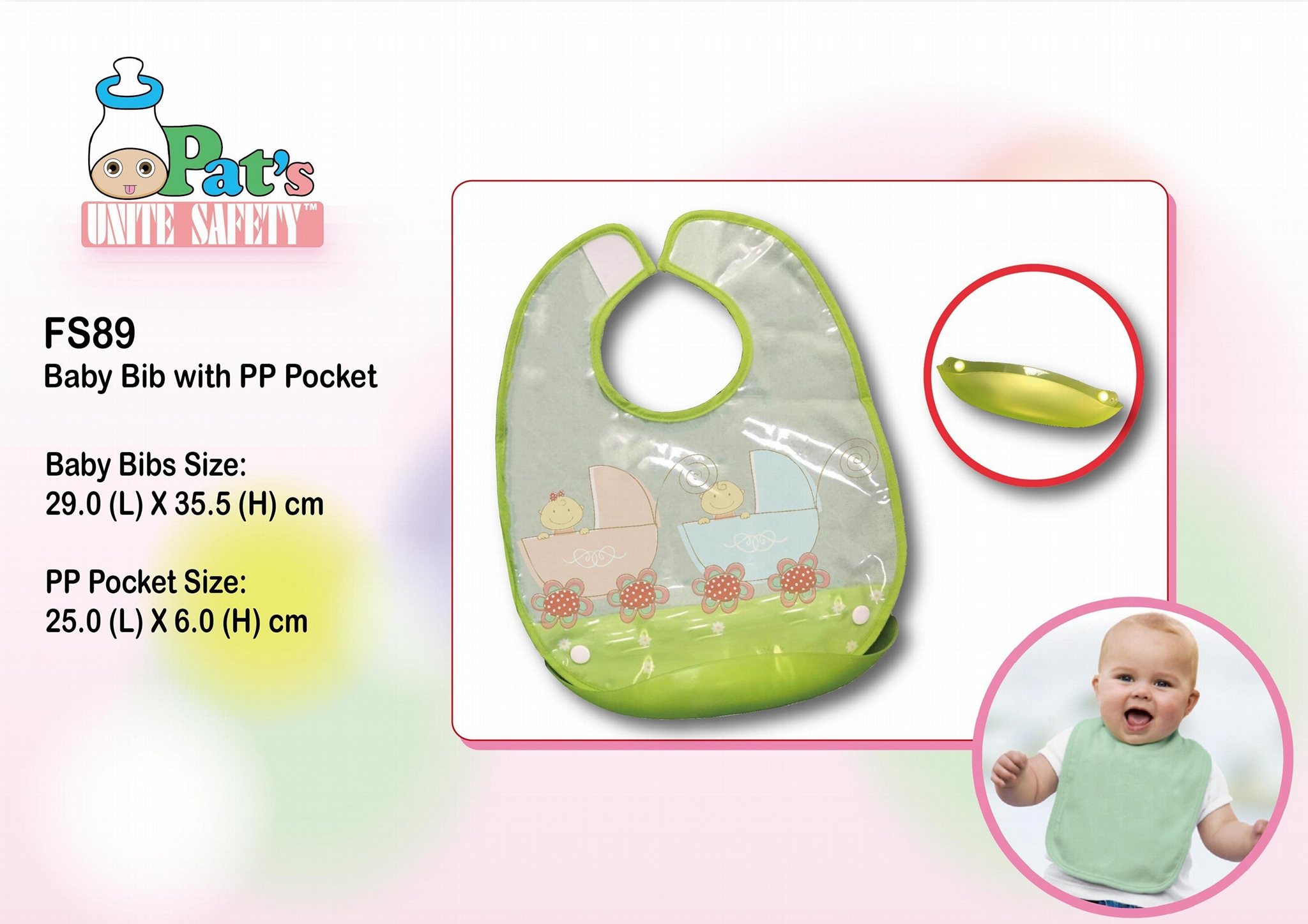 Sleeveless Baby Bib with PP Pocket 1