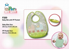 Sleeveless Baby Bib with PP Pocket