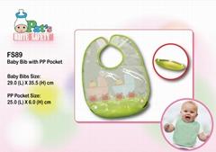 Sleeveless Baby Bib with PP Pocket