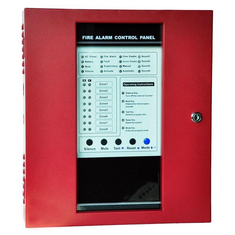 8 zones fire alarm control panel security host controller 1