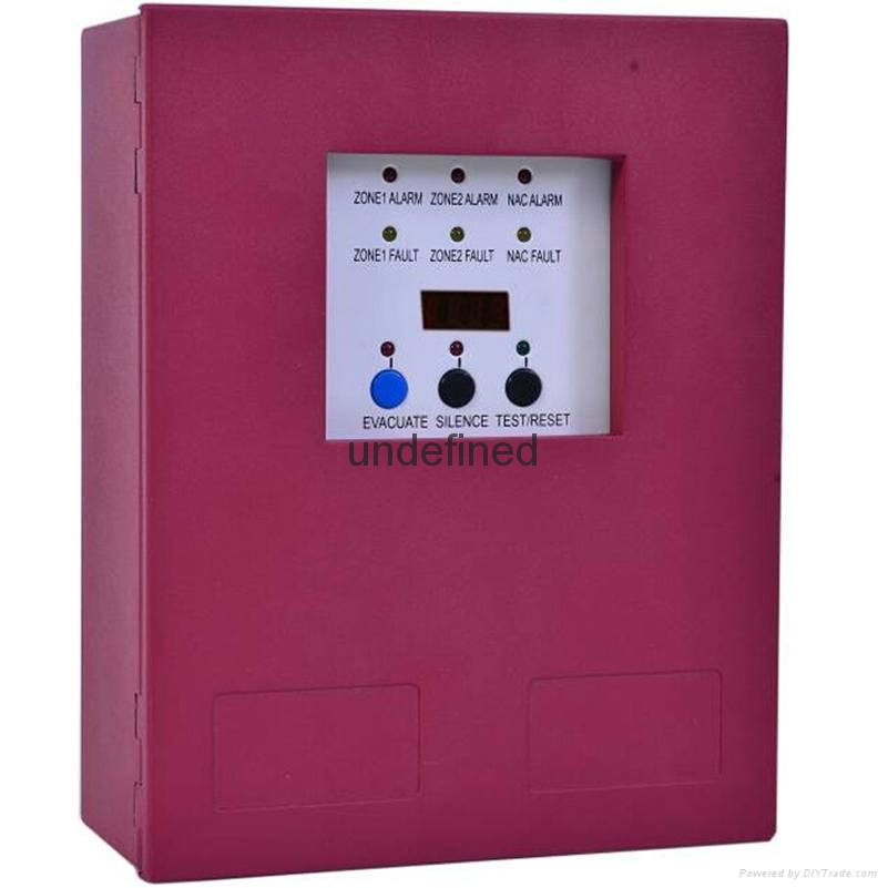 :2 Zones Mini Conventional Fire Alarm Control  Panel 2