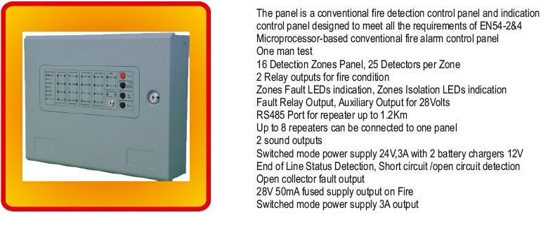 8Zones Conventional Fire Alarm Control Panel Alarm Host 3
