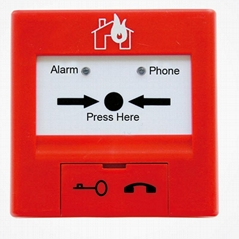 manual button with  telephone jack