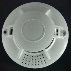 9V Battery Smoke Detector Single Residential Smoke Sensor Photoelectric Alarm