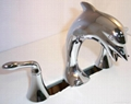 nickel chrome  dolphin baisn faucet
