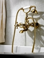 pvd gold clour shower and bath faucet clawfoot faucet telephone faucet 2