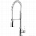 BRUSHED NICKEL PULL OUT KITCHEN faucets  1
