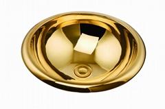 Fashion wash basin, gold Basin Handmade Copper Sink,Copper Vessel SinK