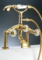 pvd gold clour shower and bath faucet clawfoot faucet telephone faucet 1