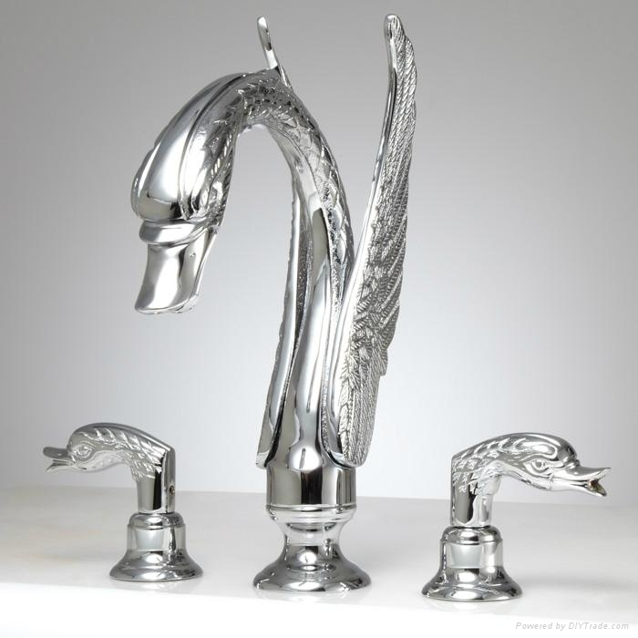 Waterfall Swan Bathtub Faucet Swan Sink Faucet Upc Faucet