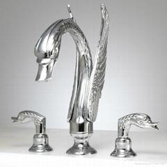 waterfall swan bathtub faucet swan sink