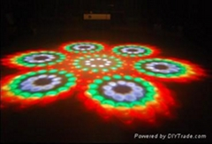 LED seven heads magic light rotating moon flower DJ equipment