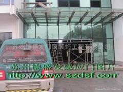 蘇州鋼化玻璃感應門