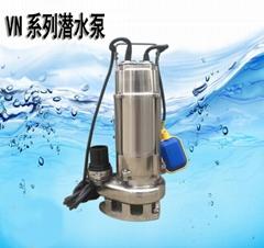 耐酸碱排污泵管径3寸 316不锈钢泵 可配浮球自动潜水泵