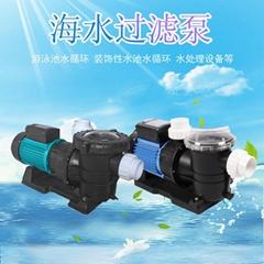 鱼池海鲜池STP250海水循环泵泳池过滤自吸水泵
