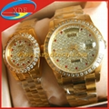 Replica Rolex Watch with diamond Golden Watch Woman and man watches