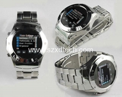 Cool Steel Design Watch Mobile Phone Wrist Cell Phone W968T