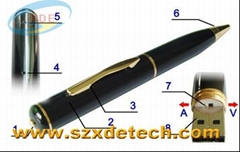 Mini USB pen hidden camera high definition Spy pen with 4GB Memory for Free
