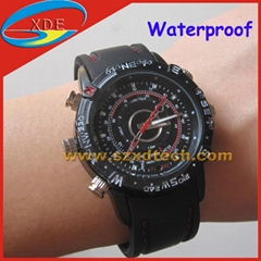 Waterproof Watches Spy Camera and Voice recorder 4GB memory for free