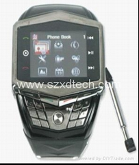 Quadband Watch mobile phone with Bluetooth Numberic Keyboard and Voice Dialing