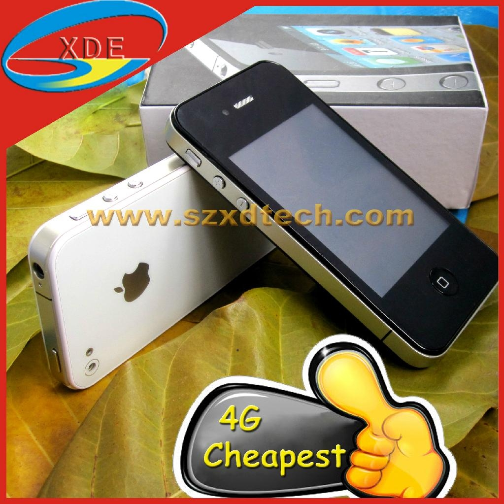 Cheapest iPhone 4S Clone with TV Dual Sim Dual Standby Mobile Phone F8 1